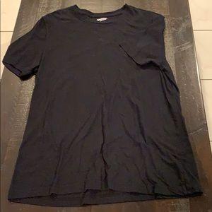XL Arizona Jeans Black Plain Crew Neck T-Shirt